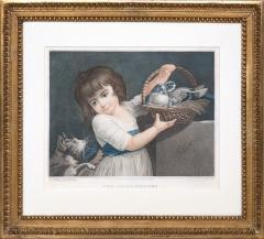 John Russel FOUR 19TH CENTURY STIPPLE ENGRAVINGS IN GILT FRAMES - 697270