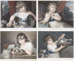 John Russel FOUR 19TH CENTURY STIPPLE ENGRAVINGS IN GILT FRAMES - 697620
