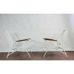 John Salterini 1950s Salterini Iron Lounge Chairs a Pair - 1703970