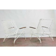 John Salterini 1950s Salterini Iron Lounge Chairs a Pair - 1703976