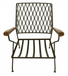 John Salterini John S Salterini Wrought Iron Wood Armchairs Salterini Furniture of NY - 1087572