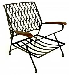 John Salterini John S Salterini Wrought Iron Wood Armchairs Salterini Furniture of NY - 1087574