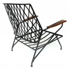 John Salterini John S Salterini Wrought Iron Wood Armchairs Salterini Furniture of NY - 1087577