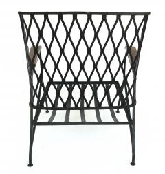 John Salterini John S Salterini Wrought Iron Wood Armchairs Salterini Furniture of NY - 1087578