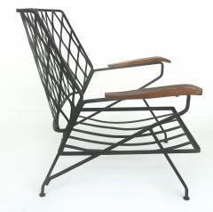 John Salterini John S Salterini Wrought Iron Wood Armchairs Salterini Furniture of NY - 1087580
