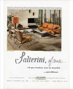 John Salterini John S Salterini Wrought Iron Wood Armchairs Salterini Furniture of NY - 1087602