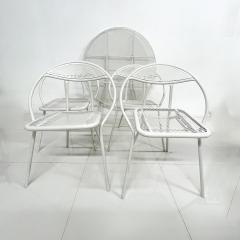 John Salterini Salterini Mid century Modern Patio Outdoor Dining Set Chairs and Dining Table - 1951286