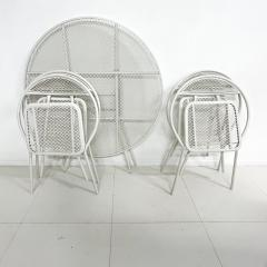 John Salterini Salterini Mid century Modern Patio Outdoor Dining Set Chairs and Dining Table - 1951293
