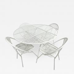 John Salterini Salterini Mid century Modern Patio Outdoor Dining Set Chairs and Dining Table - 1953037