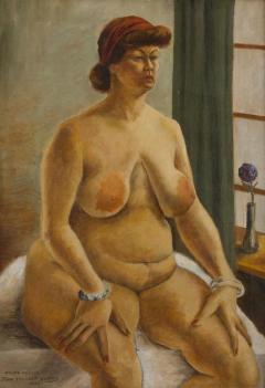 John Steuart Curry Hilda Nellis Seated Nude Woman - 564218