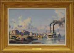 John Stobart Louisville The Peoples Line Packet Arriving at the Levee in 1868  - 222199