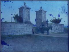 John Stoddard The City Gate St Augustine FL 1893 Antique Oil Painting by John Stoddard - 1163080