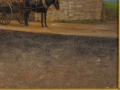 John Stoddard The City Gate St Augustine FL 1893 Antique Oil Painting by John Stoddard - 1163082