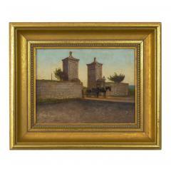 John Stoddard The City Gate St Augustine FL 1893 Antique Oil Painting by John Stoddard - 1163083