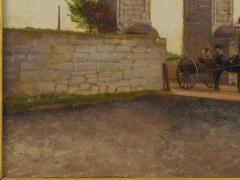 John Stoddard The City Gate St Augustine FL 1893 Antique Oil Painting by John Stoddard - 1163086