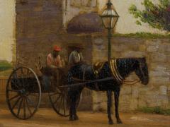 John Stoddard The City Gate St Augustine FL 1893 Antique Oil Painting by John Stoddard - 1163088