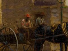 John Stoddard The City Gate St Augustine FL 1893 Antique Oil Painting by John Stoddard - 1163090
