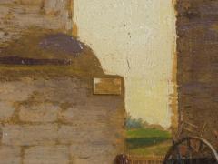 John Stoddard The City Gate St Augustine FL 1893 Antique Oil Painting by John Stoddard - 1163091