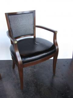 John Stuart Authentic Vintage Set Of 8 John Stuart Cane Chairs   415421