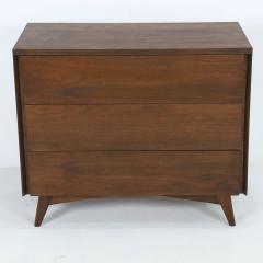 John Stuart Mid Century Modern Walnut Cabinet Dresser Designed by John Stuart - 2132302