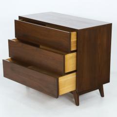 John Stuart Mid Century Modern Walnut Cabinet Dresser Designed by John Stuart - 2132306