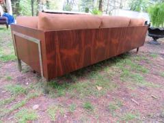 John Stuart Outrageous Milo Baughman Style Rosewood Chrome Case Sofa John Stuart - 1030919
