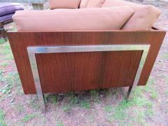 John Stuart Outrageous Milo Baughman Style Rosewood Chrome Case Sofa John Stuart - 1030928