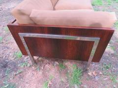 John Stuart Outrageous Milo Baughman Style Rosewood Chrome Case Sofa John Stuart - 1030930