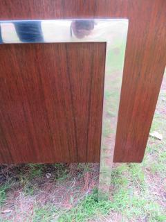 John Stuart Outrageous Milo Baughman Style Rosewood Chrome Case Sofa John Stuart - 1030932