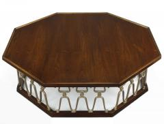 John Van Koert John Van Koert Casa Del Sol Coffee Table of Walnut and Cast Metal Scrollwork - 279432