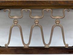 John Van Koert John Van Koert Casa Del Sol Coffee Table of Walnut and Cast Metal Scrollwork - 279433