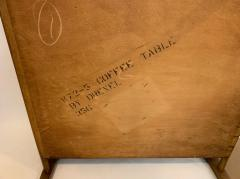 John Van Koert John Van Koert Leather Wrapped Oak Two Tier Coffee Table - 1760580
