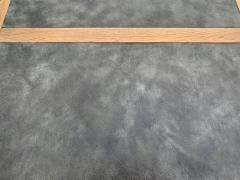 John Van Koert John Van Koert Leather Wrapped Oak Two Tier Coffee Table - 1760589