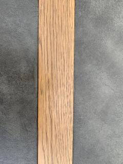 John Van Koert John Van Koert Leather Wrapped Oak Two Tier Coffee Table - 1760597