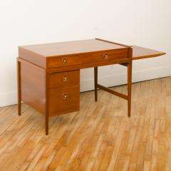 John Van Koert Mid Century walnut desk w side extension designed by John Van Koert for Drexel - 2033410