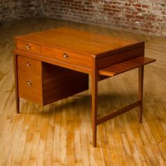 John Van Koert Mid Century walnut desk w side extension designed by John Van Koert for Drexel - 2033412