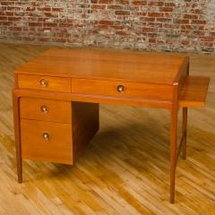 John Van Koert Mid Century walnut desk w side extension designed by John Van Koert for Drexel - 2033413