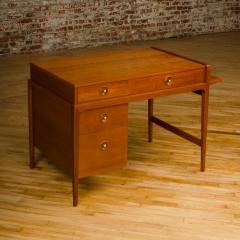 John Van Koert Mid Century walnut desk w side extension designed by John Van Koert for Drexel - 2033414