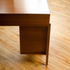 John Van Koert Mid Century walnut desk w side extension designed by John Van Koert for Drexel - 2033422