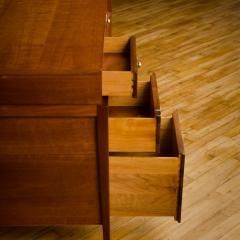 John Van Koert Mid Century walnut desk w side extension designed by John Van Koert for Drexel - 2033423