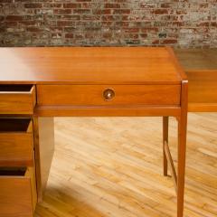 John Van Koert Mid Century walnut desk w side extension designed by John Van Koert for Drexel - 2033425