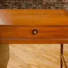 John Van Koert Mid Century walnut desk w side extension designed by John Van Koert for Drexel - 2033438