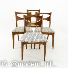 John Van Koert for Drexel Profile Mid Century Walnut Dining Chairs Set of 4 - 1870069