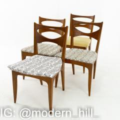 John Van Koert for Drexel Profile Mid Century Walnut Dining Chairs Set of 4 - 1870070