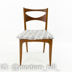 John Van Koert for Drexel Profile Mid Century Walnut Dining Chairs Set of 4 - 1870071