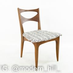 John Van Koert for Drexel Profile Mid Century Walnut Dining Chairs Set of 4 - 1870072