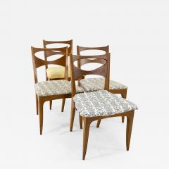 John Van Koert for Drexel Profile Mid Century Walnut Dining Chairs Set of 4 - 1877915
