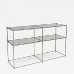 John Vesey Aluminum and Brass Console Table with Shelves John Vesey - 1207164