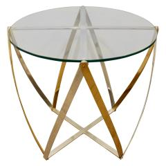 John Vesey John Vesey Brass and Brushed Aluminum End Table 1970s - 436855