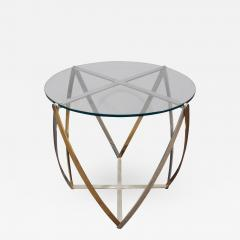John Vesey John Vesey Brass and Brushed Aluminum End Table 1970s - 439135